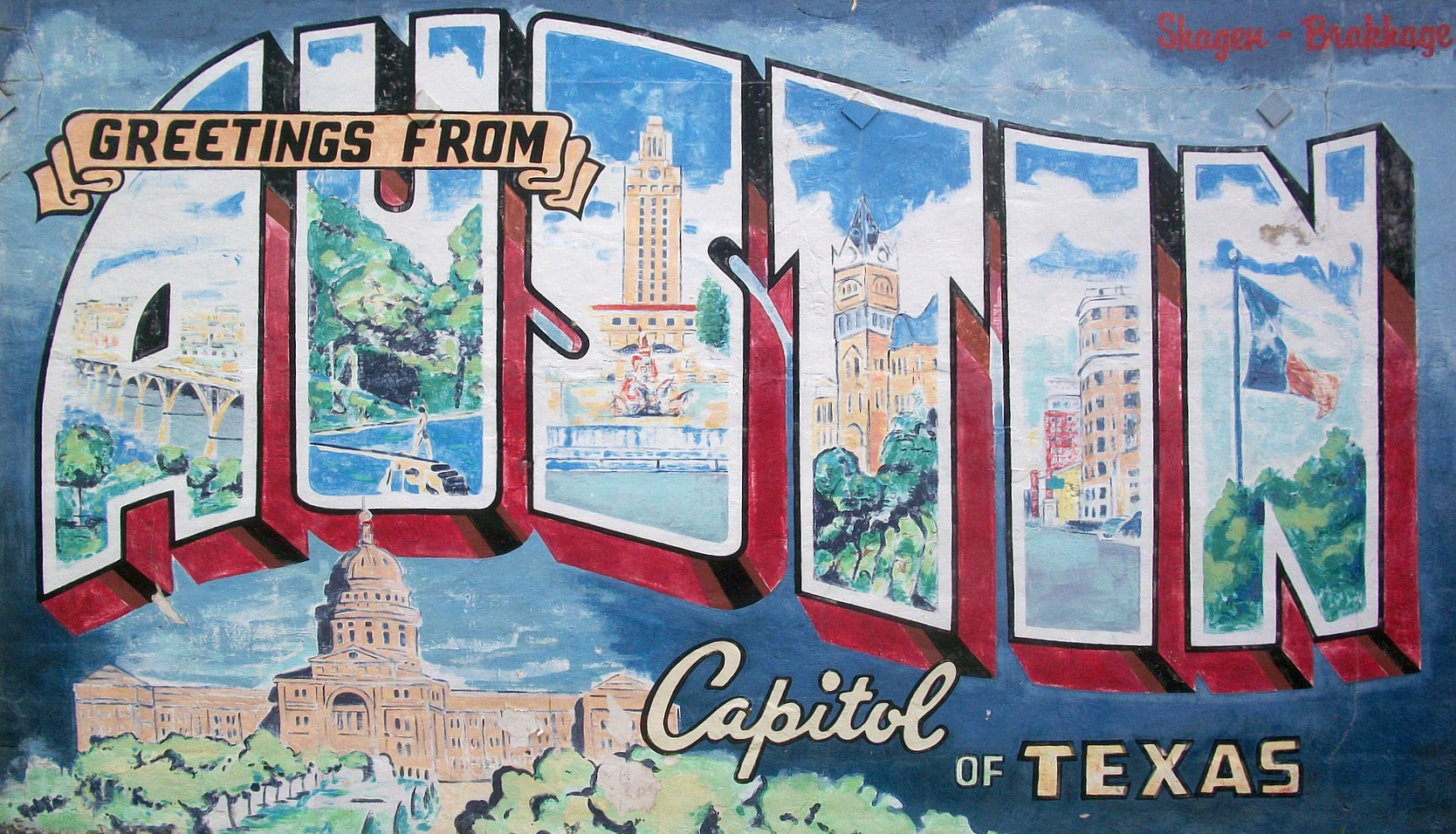 Austin Capitol of Texas Wall Painting